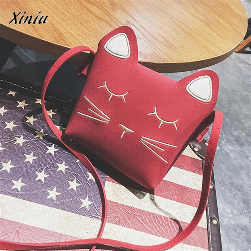 Cat Wallet for kids Girls Shoulder Bags Cartoon Kids Mini Crossbody Bag Coin purse monederos para mujer cat purse