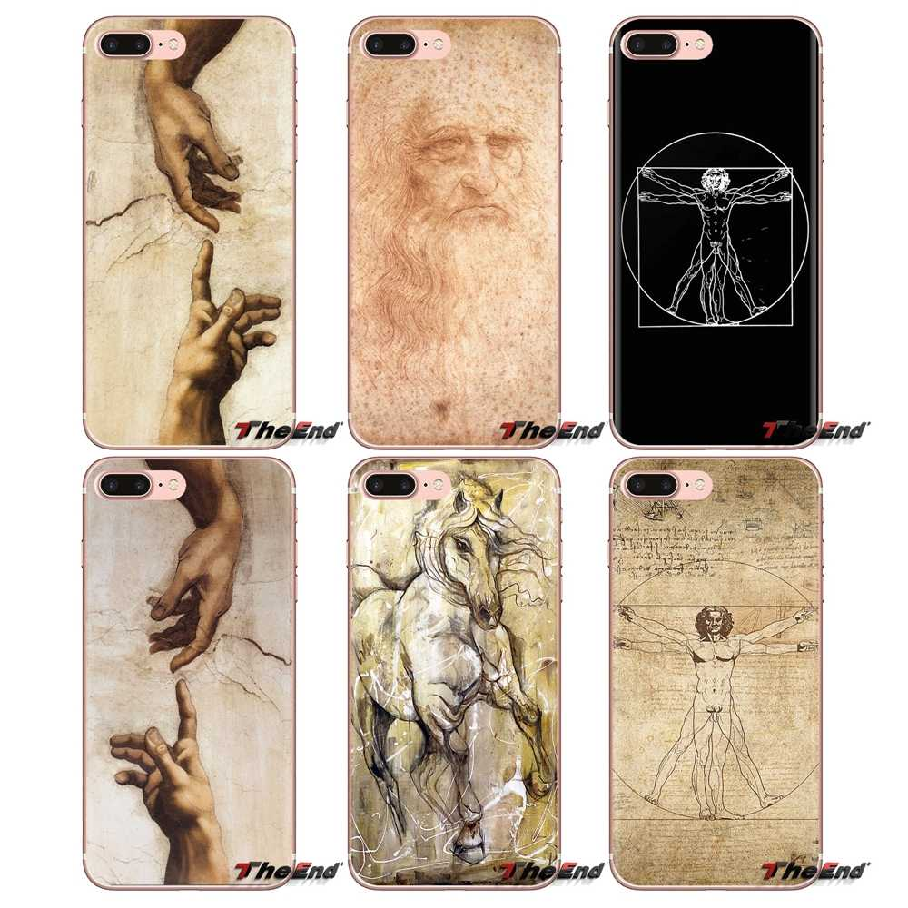 Soft Transparent Skin Case For Samsung Galaxy S3 S4 S5 Mini S6 S7 Edge S8 S9 S10 Plus Note 3 4 5 8 9 Italy leonardo da vinci art