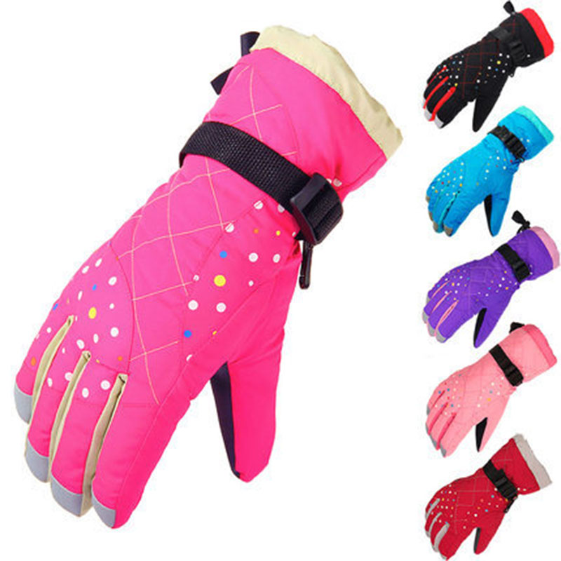 CN-RUBR Children Winter <font><b>Warm</b></font> <font><b>Gloves</b></font> Boys Girls Waterproof Windproof Snow Mitten Touch Screen Extended <font><b>Glove</b></font>