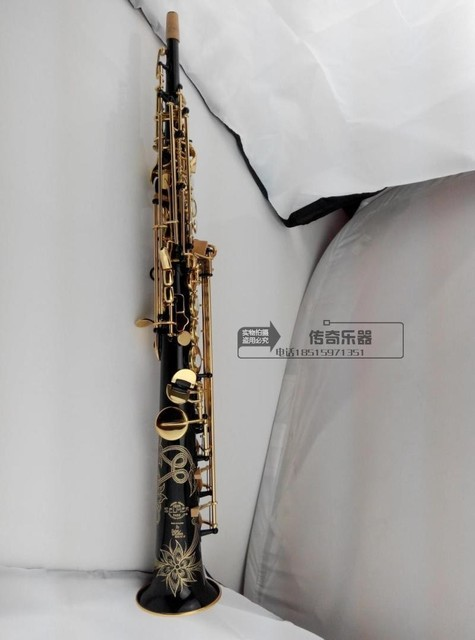 Cheap Big sale Wholesale - France Henri selmer B soprano saxophone Super action 80 series II gold-bonded black body