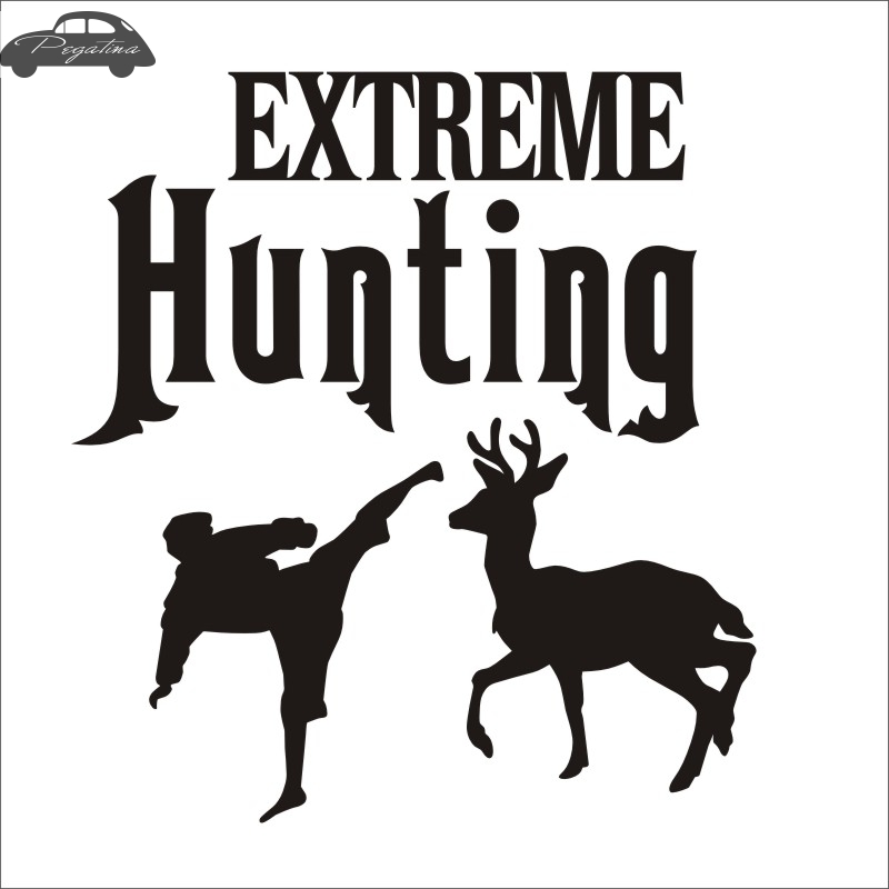 Pegatina Hunt Buck Sticker Deer Extreme Hunter Club Decal Gun Shop Hollow Hunting Car Window Vinyl Decal Funny Poster