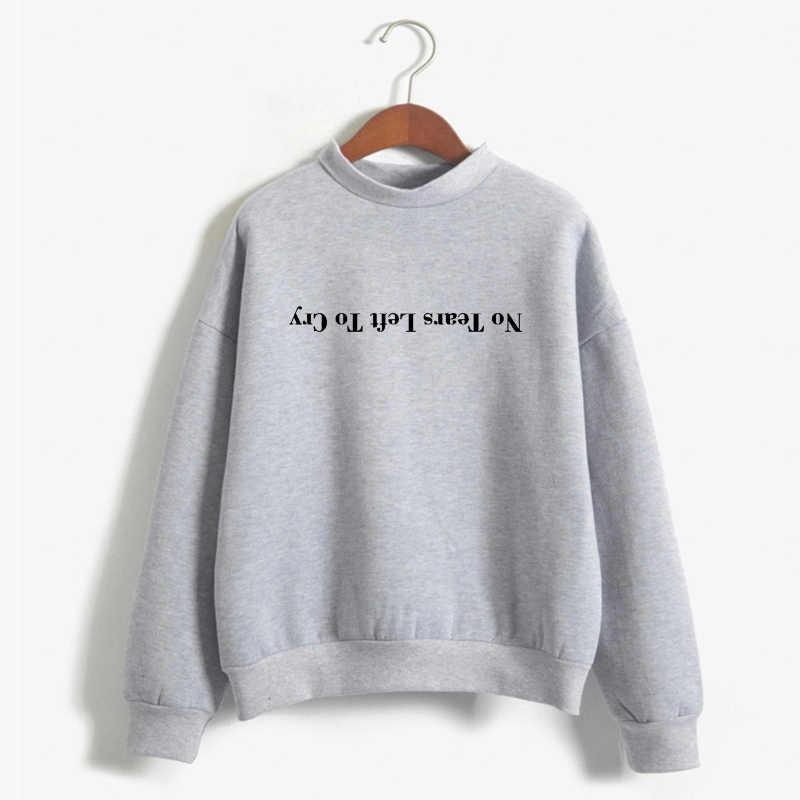 נשים הדפסת Harajuku אלוהים הוא אישה חולצות סוודרים Cewneck חם חולצות אריאנה גרנדה סווטשירט לא דמעות שמאל לבכות הסווטשרט