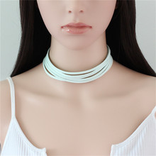 9 colors New Multilayer Girl Necklace Punk Choker Necklace Set Stretch Velvet Classic Gothic Tattoo Lace Choker Necklaces, Black