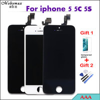 2 Free Gifts Black White Top Quality Touch Screen Ecran For IPhone 5s Only LCD Display
