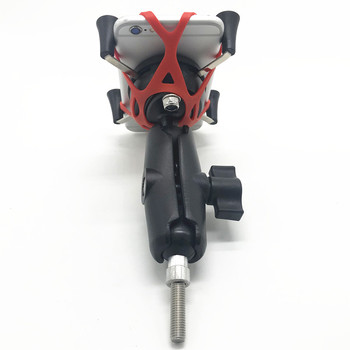 Motorcycle Phone Mount | Motorcycle Handlebar Clamp Base 1 Inch 25mm Ball With M8 Screws  Cell Phone Mount Holder Stand Kit For 4-6 Inch Smart Phones