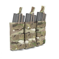 1000D Nylon Tactical Triple M4 M16 Open Top Mag Pouch Assault Systems Bungee MOLLE Open M4