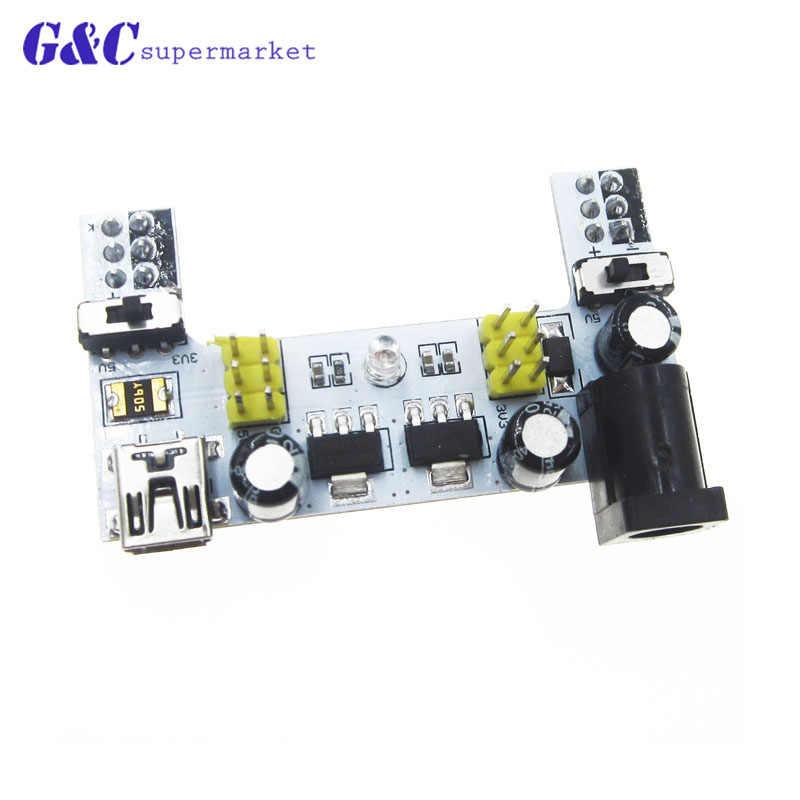 MB-102 โมดูล 2 ช่องBoard MB102 DC 7-12V Micro USB Interface Breadboard Power SupplyโมดูลสำหรับArduino diyชุด