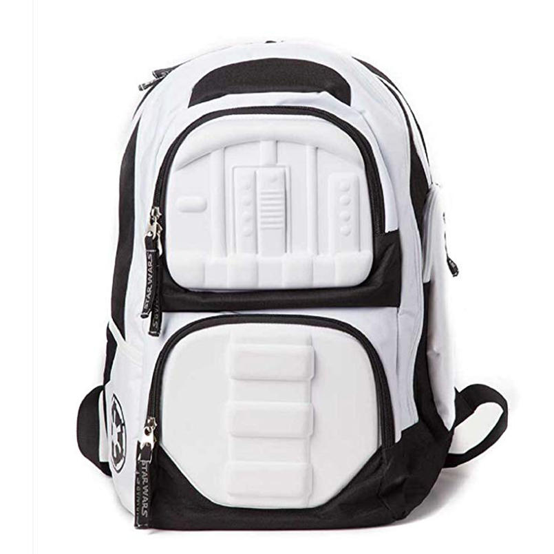 цена на New! Star Wars Backpack school bag Star Wars Stormtrooper molded 3d Movie Games Class backpack
