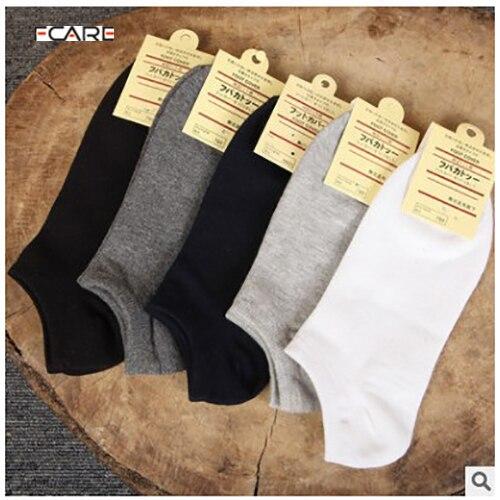 Fcare/новинка года, 20 шт. = 10 пар белых носков, мужские носки из 80% хлопка, Тапочки, повседневные Элитные невидимые короткие носки, летние тонкие носки
