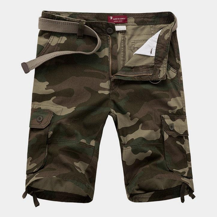 ZOEQO Новые мужские повседневные камуфляжные свободные мужские шорты Карго большой размер мульти-карман военные короткие брючные комбинезоны бермуды masculina - Цвет: army green 1