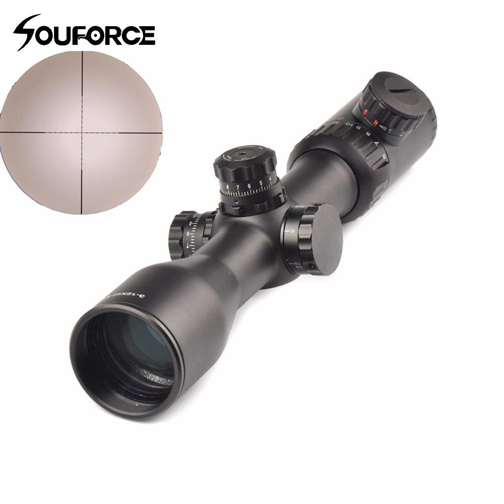 Оптический 3-12x42 SF прицел винтовка Сфера Mil-Dot Сетка красный зеленый черный подсветка подходит 20 мм рельсовое крепление для охоты