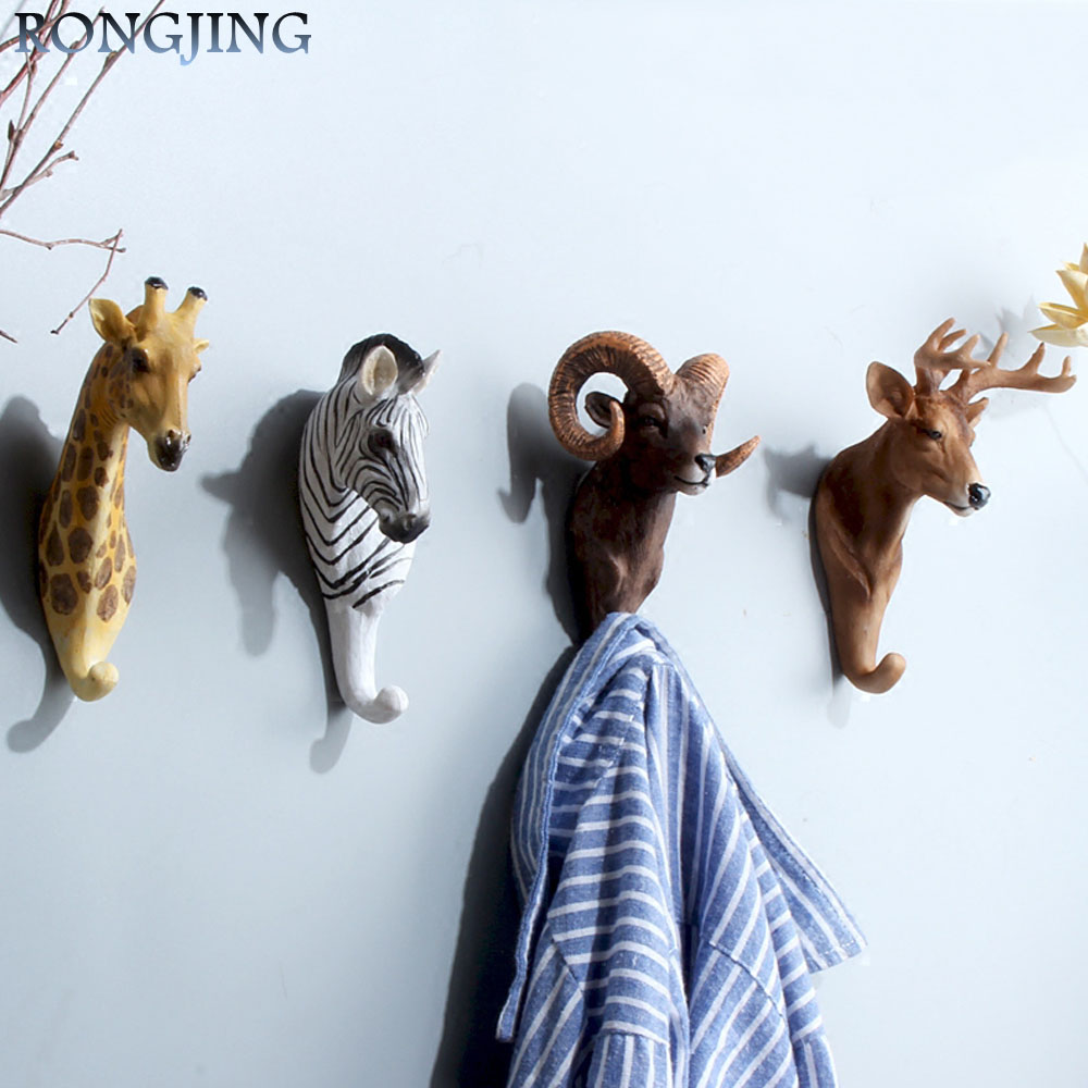 aliexpresscom buy perspective retro cafe wall hooks mural cloth wall hanger for clothes coathat hook hanger wooden door decorative wall hooks from - Decorative Wall Hooks