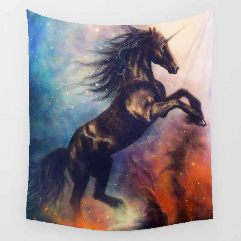 Unicorn tapestry tiger dragon butterfly wall hanging tapestry home decoration large rectangle bedroom wall tapestry in Tapestry from Home Garden