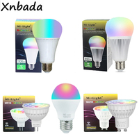 Milight Dimmable Led Bulb 4W 6W 8W 12W MR16 GU10 E27 RGB CCT Led Lamps