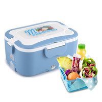 Baispo Electric Heating Lunch Box 12V/24V Car Electric 1.5L Portable Bento Box Food Container Warmer Lunchbox Thermostatic