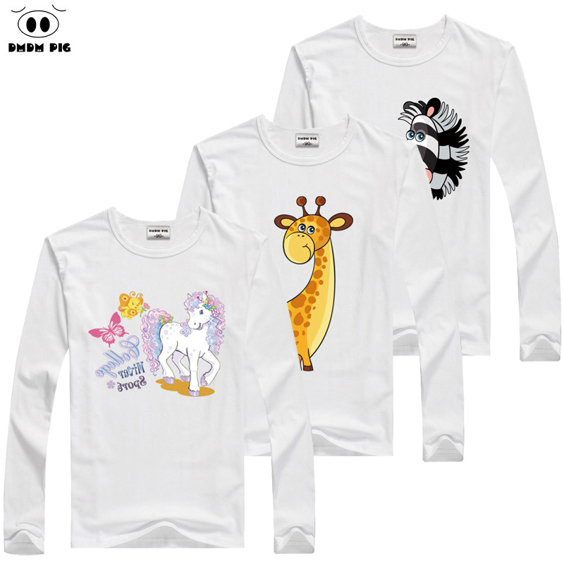 DMDM PIG Baby Boy Girl Clothes For Girls Long Sleeve T-Shirts For Girls Kids Clothes Children's Clothing Boy T Shirts For Boys