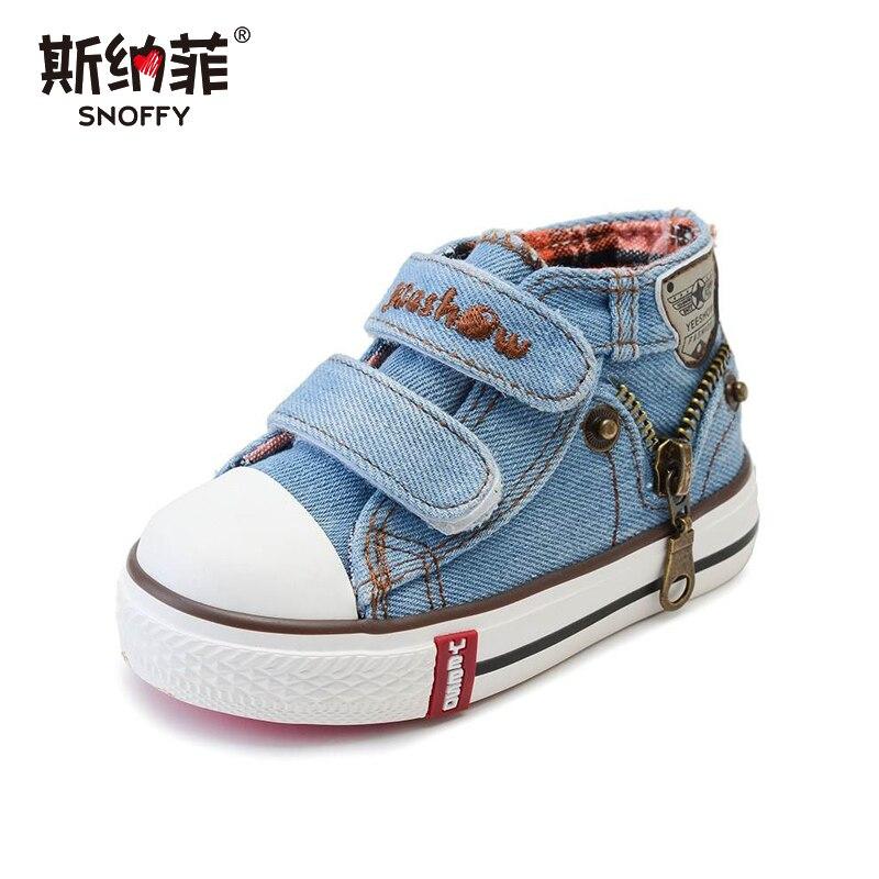 Nuovo 2018 primavera scarpe di tela di canapa dei bambini dei ragazzi di sport scarpe scarpe per bambini delle ragazze dei jeans cowboy stivali piatti del bambino del bambino scarpe