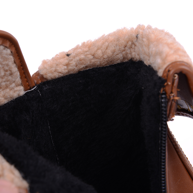 Nero khaki Lavorano Invernali Il rosso Alto 43 34 Casuale Stile Stivaletti Fibbia Donne Donna Britannico Scarpe Dimensioni Grandi Tacco Nuove Di nqxFAUw4pR