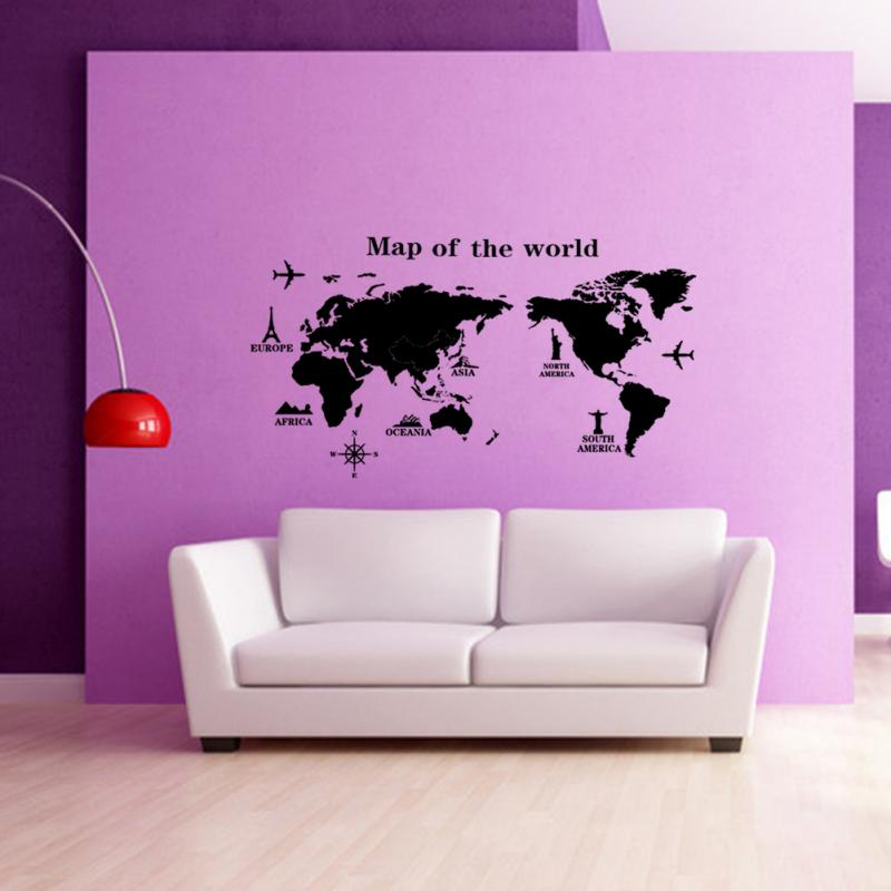 Removable pvc vinyl art room world map decal mural home decor diy removable pvc vinyl art room world map decal mural home decor diy wall sticker in wall stickers from home garden on aliexpress alibaba group gumiabroncs Gallery