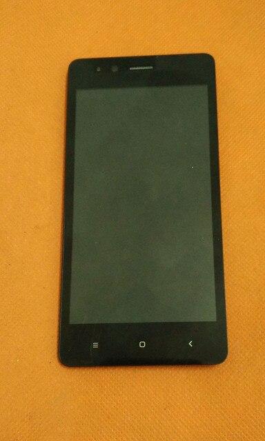 Использовать Оригинальный ЖК-Дисплей + Сенсорный Экран Digitizer Стекло + Рамка для VKworld F1 MTK6580 Quad Core 4.5 дюймов Бесплатно доставка