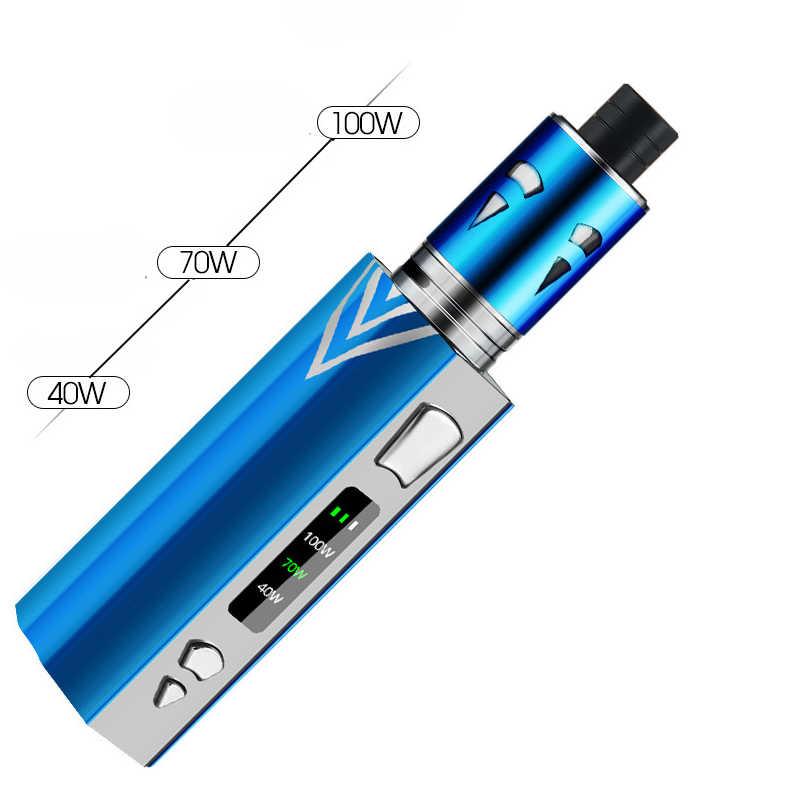 オリジナル 100 w 電子タバコキット 2200 mah 蒸発液体ボックス mod 煙 vaper 吸うペン巨大な気化器 e のタバコ