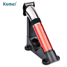 Kemei Electric Washable Hair Clipper Rechargeable Hair Trimmer Grooming Beard Shaver Razor for Man EU Plug Styling Accessories