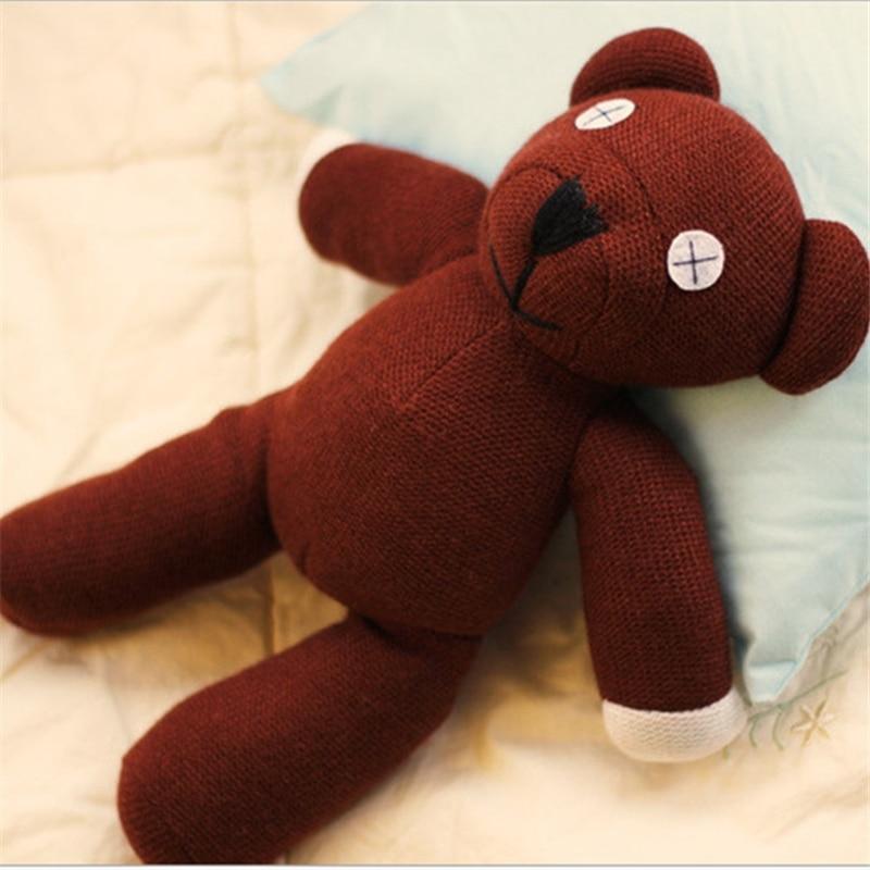 Retail 1 Piece 9'' 23cm Mr Bean Bear Teddy Doll Animal Stuffed Plush Toys  Brown Figure Kid Christmas Birthday Gift