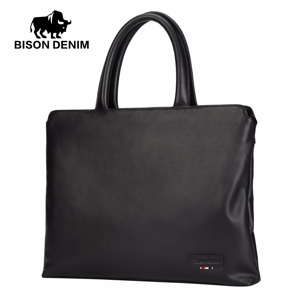 BISON DENIM fashion brand genuine leather bag men handbag shoulder bags business men briefcase laptop 100% genuine leather men bag brand designed men laptop briefcase business bag cow leather men handbag shoulder bag messenger bag