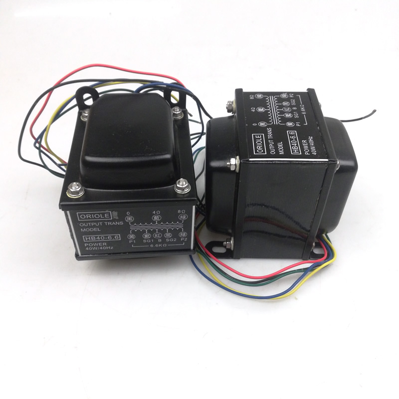 6L6 push pull output transformer power 40W 40Hz primary impedance 6 6Kohm for electron tube 6L6