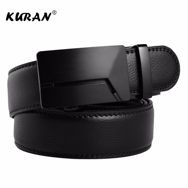 KURAN Designer Luxury Real Leather Men's Belt 2