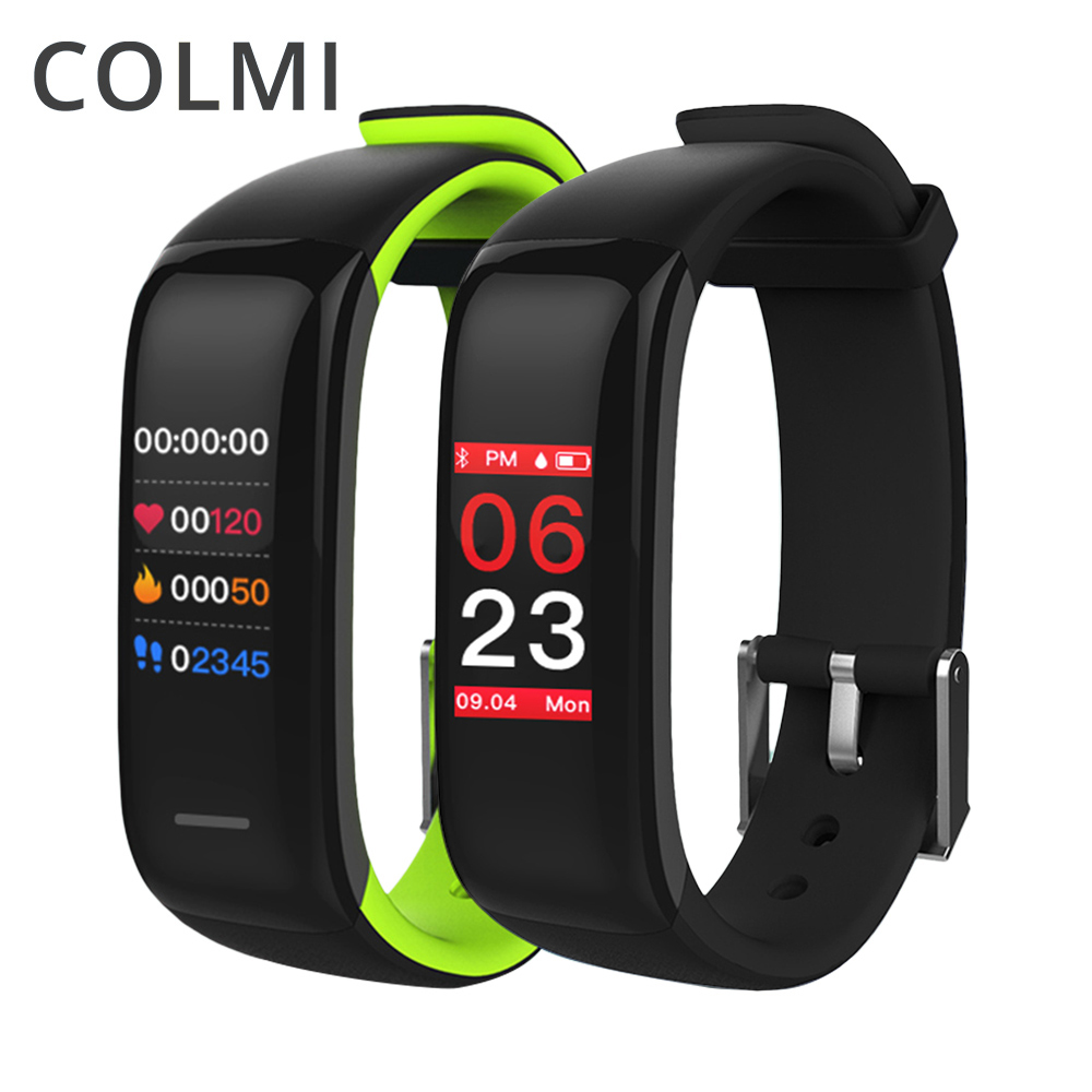все цены на COLMI Smart Bracelet Accurate Heart Rate Monitor Blood Pressure Fitness Clock Colorful Touch Screen PK fitbits Smart Band онлайн