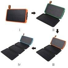 Солнечный 7 Вт внешний аккумулятор 30000 мАч двойной USB Водонепроницаемый Солнечный перезаряжаемый зарядное устройство Внешний аккумулятор зарядное устройство для xiaomi power Bank