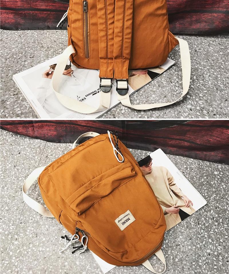 HTB139fNN9zqK1RjSZFpq6ykSXXat DCIMOR Solid color Women backpack Retro Fashion Waterproof Nylon Backpack School Bags For Teenagers Mochilas Travel Backpacks