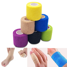 купить 3 Size Cohesive Bandage Self-adhesive Form Non-woven Waterproof Stealth Wrap Tape Elastic Compression First Aid Medical Wrap C дешево