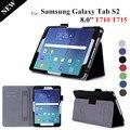 Tab s2 8.0 ''stand couro case para samsung galaxy tab s2 8.0 t710 t715 ímã tablet casos de cobertura para galaxy tablet s2 8.0 t710