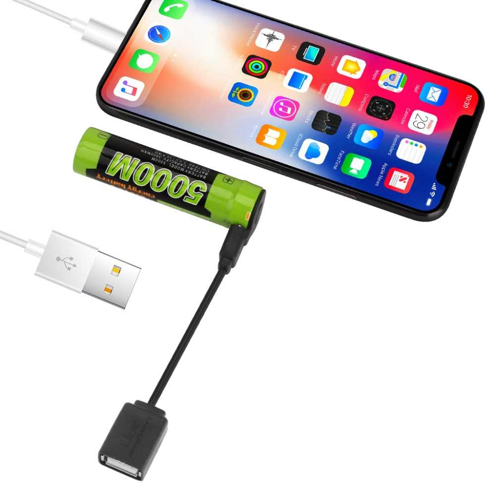 18650 USB 3,7 V 3500 mAh литий-ионная аккумуляторная батарея USB DC-Зарядка вход и выход мобильного телефона powerbank aa aaa