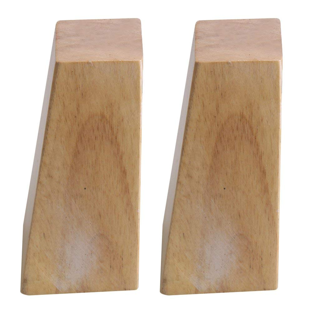 Oak Wood 120x58x38MM Wooden Furniture Cabinet Leg Right Angle Trapezoid Feet Lifter Replacement For Sofa Table Bed Set Of 4