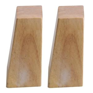 Image 4 - Oak Wood 120x58x38MM Wooden Furniture Cabinet Leg Right Angle Trapezoid Feet Lifter Replacement for Sofa Table Bed Set of 4