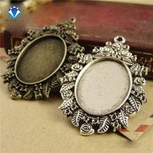 10 шт/лот античный бронзер/античная серебряная филигранная Камея