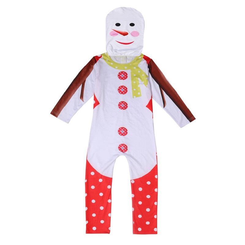 Christmas Snowman Costume Christmas Party Gift Giver for Kid Cosplay Clothes Cape Dress Hats Unisex Boys Girls