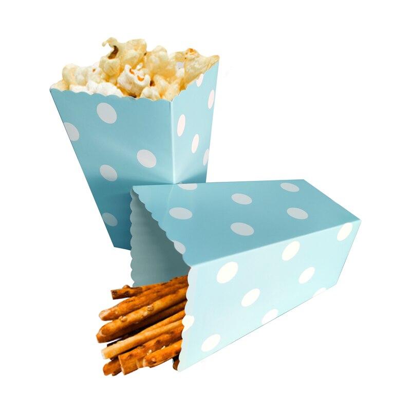 12 stuks Kleurrijke Chevron Papier Popcorn Dozen Bruiloft Tafel Decoratie Baby Shower Verjaardagsfeestje Decoraties Event Feestartikelen 1