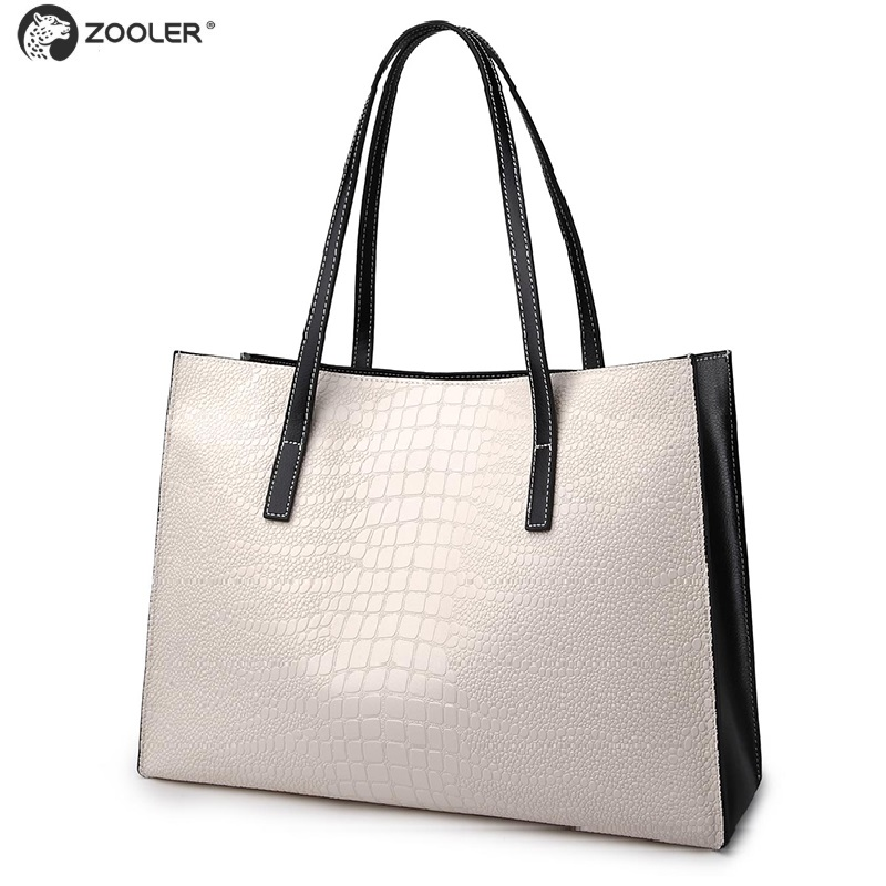 ZOOLER 2019 new women genuine leather bags luxury brand women large shopping tote bag ladies shoulder