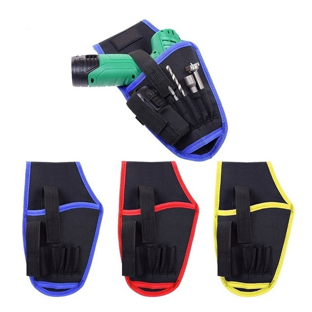 Tool Bag Portable Cordless Drill Holster Waist Pouch Driver Bags Electrician Professional Repair Toolkit