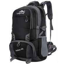 Maschio 65L unisex zaino Impermeabile borse sportive di viaggio del sacchetto del pacchetto di Alpinismo di Campeggio Esterna Trekking Arrampicata zaino per gli uomini