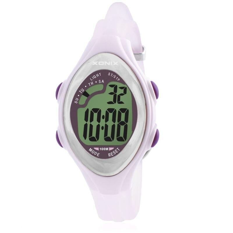 XONIX AE Accurate Classic Retro LED Electronic Waterproof Woman Girl Girls Multifunction Electronic Watch Luminous