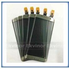 Części zamienne 5.5 wysokiej jakości dla Samsung Galaxy S7 krawędzi G9350 G935 G935F ekran dotykowy Digitizer czujnik szklany Panel