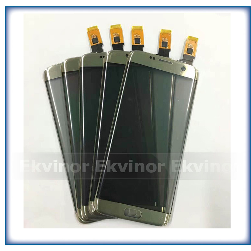 Pièces de rechange 5.5 ''Haute Qualité Pour Samsung Galaxy S7 Bord G9350 G935 G935F Écran Tactile Digitizer Capteur En Verre Panneau