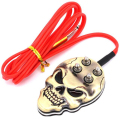 YILONG Newest Flat Skull Tattoo Foot Switch Pedal Stainless Steel For Tattoo Power Supply Foot Switch Clip cord