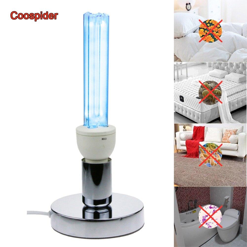 Quartz Uvc Kiemdodende Sterilisatie Cfl Ozon Lamp Ultraviolet Licht E27 Base Voor Desinfecteren Bacteriële Doden Mijten Deodorizer