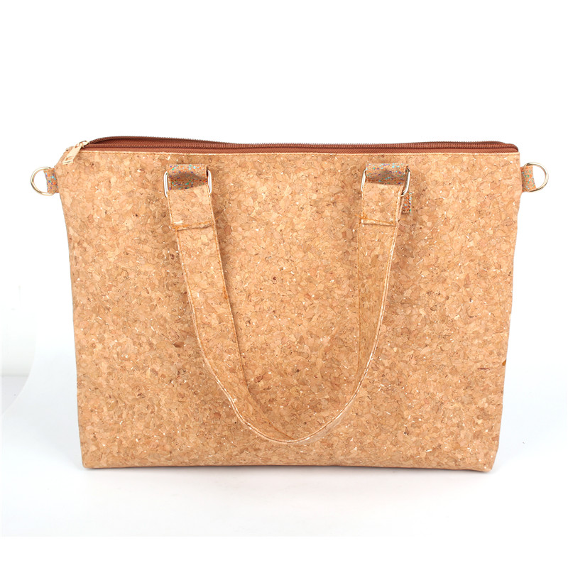 Natural cork handmade shoulder bag beige skin of tree vegan high quality wooden Eco Bag-151 natural cork watch strap brown cork with pu leather handmade vegan high quality e 001